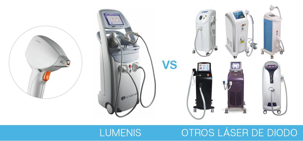 comparativa lumenis con otras maquinas laser de diodo barcelona